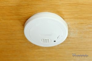 A Gas Leak Detector on a Wooden Ceiling