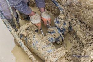 Adjusting the Main Water Line in Muddy Water
