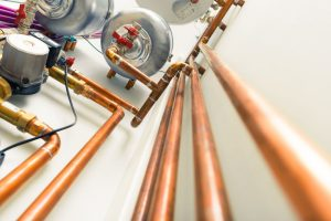 Closeup of Copper Piping